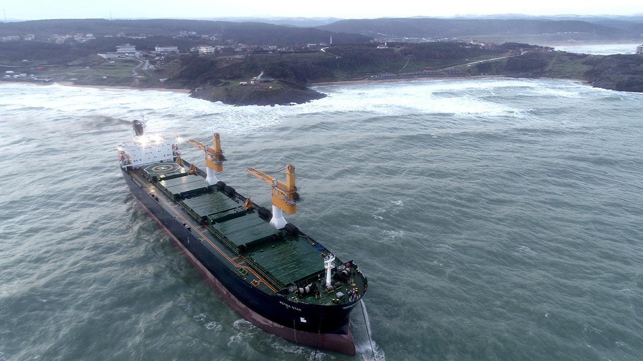 Beykoz'da gemi kurtarma operasyonu