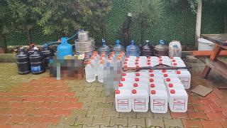 Manisa'da 1075 litre sahte içki ele geçirildi