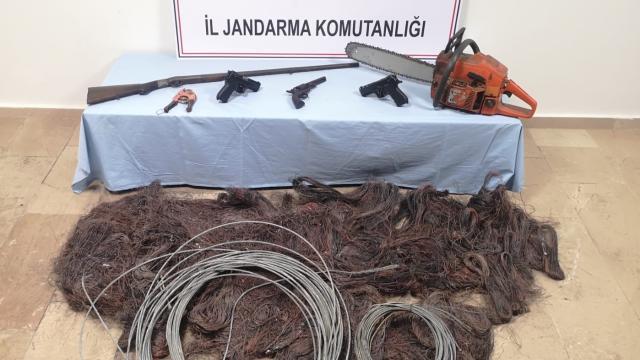 Sinopta kablo hırsızlığı operasyonu: 3 gözaltı