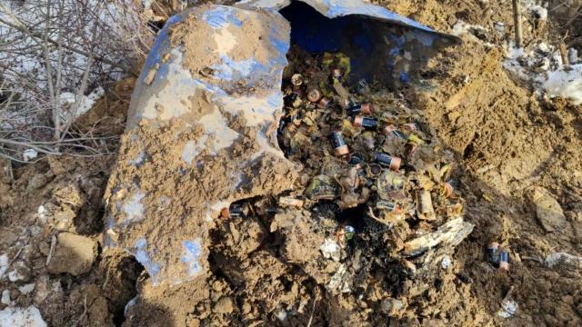 Bitliste teröristlerin toprağa gömdüğü 450 pil bulundu