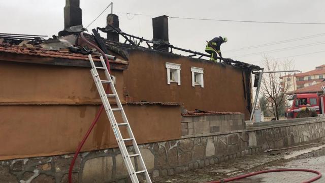 Kuluda çatı yangını