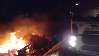 Giresun'da yangın: Tek katlı ahşap ev kül oldu