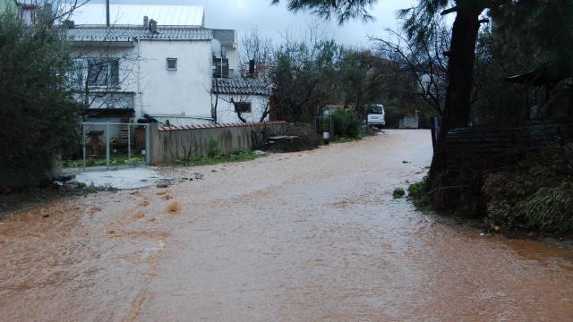 Çanakkalede şiddetli yağış etkili oldu