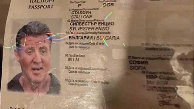 """Kalpazanlar """"Sylvester Stallone"""" adına sahte pasaport düzenlendi"""