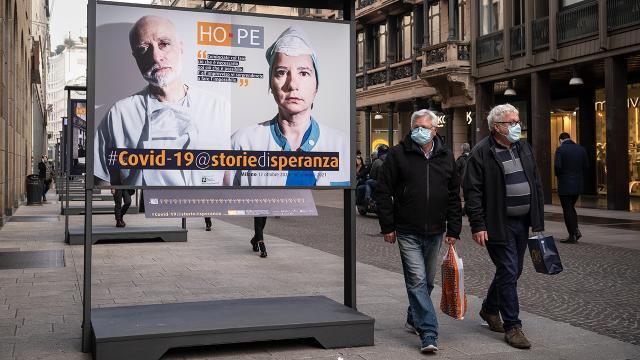 İtalyada son 24 saatte 316 kişi hayatını kaybetti