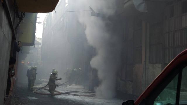 İstanbulda sanayi sitesinde yangın