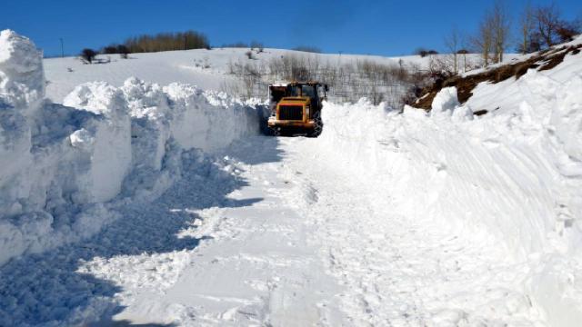 Muşta kar nedeniyle kapanan yol 6 günde açıldı