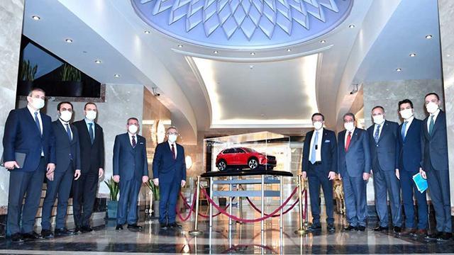 TCMB Başkanı Ağbal, TOBB Başkanı Hisarcıklıoğlunu ziyaret etti