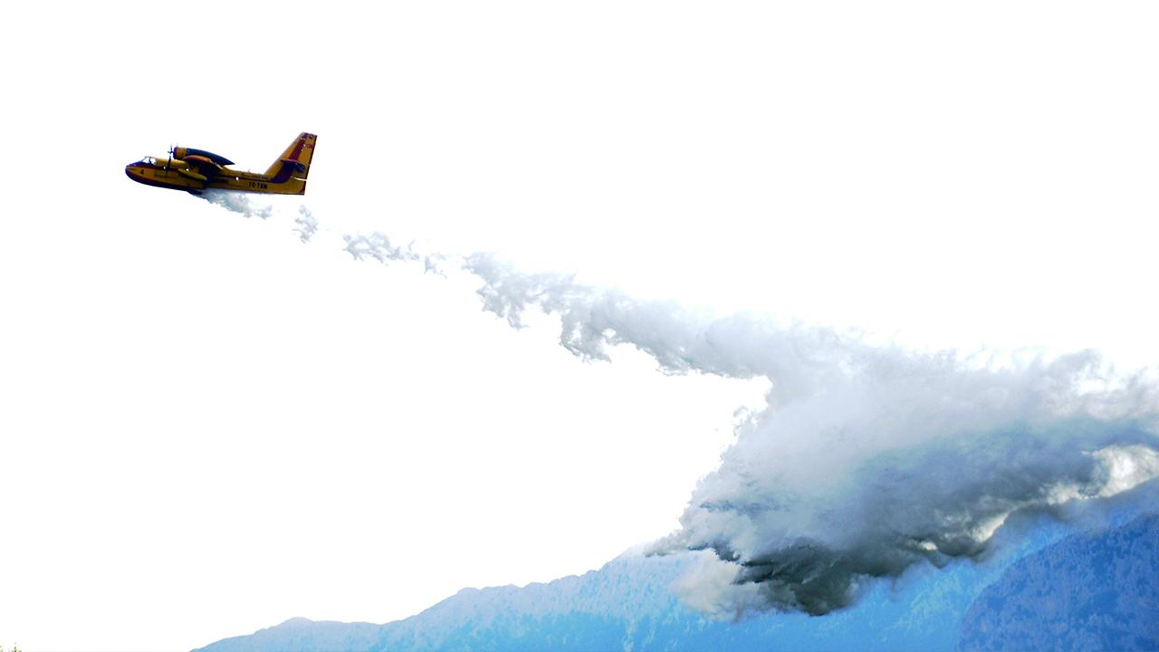 6 ülkeden yangınla mücadelede hava desteği