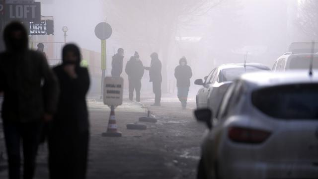 Ardahanda sis ve kırağı güzel görüntüler oluşturdu