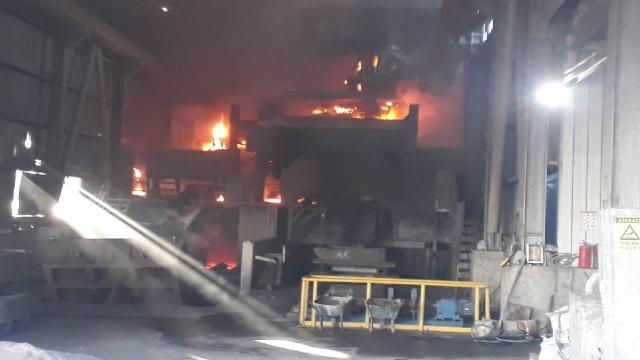 Döküm fabrikasında patlama: 6 yaralı
