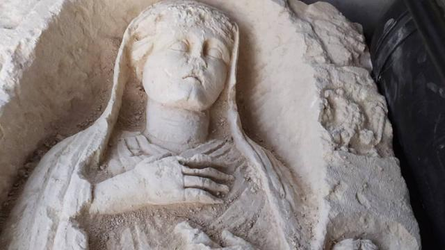 Gaziantepte kaçak kazı yapanlara suçüstü: Tarihi heykel ele geçirildi