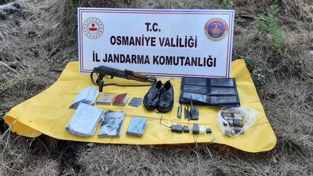 Osmaniyede teröristlere ait silah ve mühimmat ele geçirildi