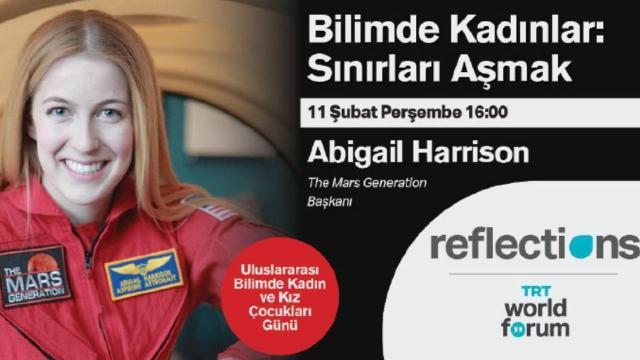 """""""Astronot Abby"""" TRT World Forum Reflections'da"""