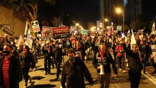 Binlerce İsrailliden Netanyahu karşıtı gösteri