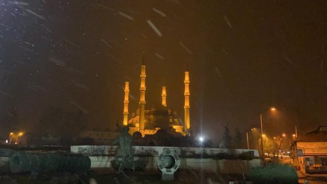 Edirnede kar yağışı