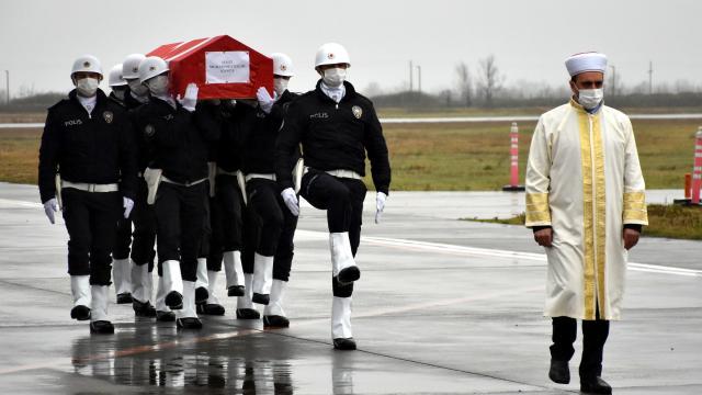 Garada şehit edilen Muhammet Salih Kancanın cenazesi Samsuna getirildi