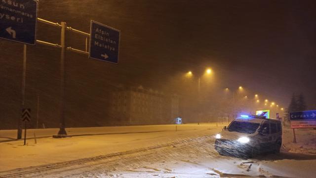 Elbistan-Göksun kara yolu ulaşıma kapandı