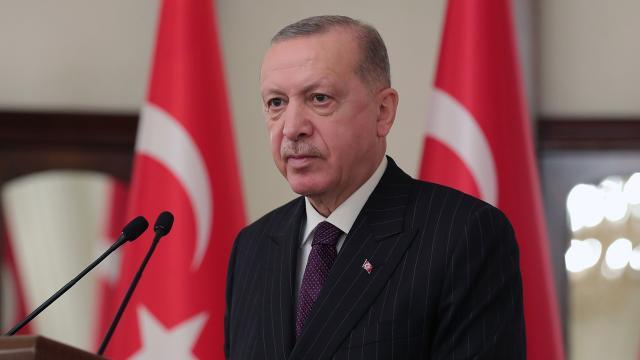 Cumhurbaşkanı Erdoğandan şehit ailesine başsağlığı mesajı