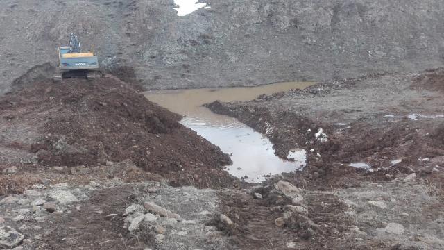 Çankırıda kar ve yağmur sularının değerlendirilmesi için 3 gölet yapıldı