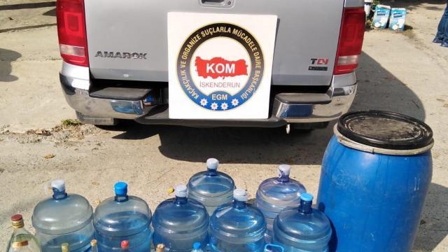 Hatayda 350 litre sahte içki ele geçirildi: 3 gözaltı