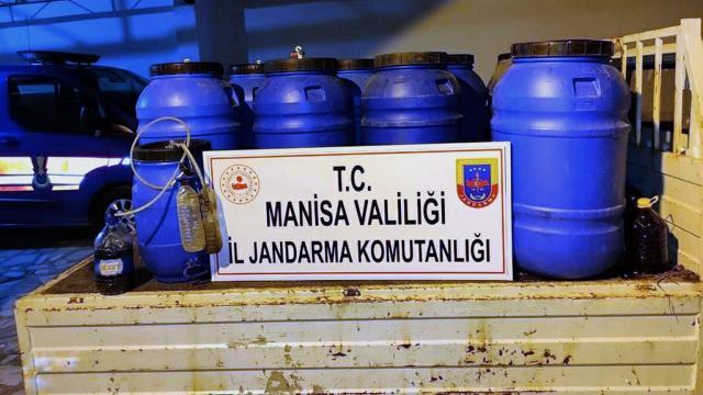 Manisada 1550 litre sahte içki ele geçirildi