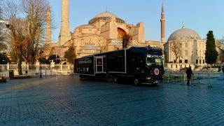 'Dijital Tır' ilk durağı olan Edirne'de