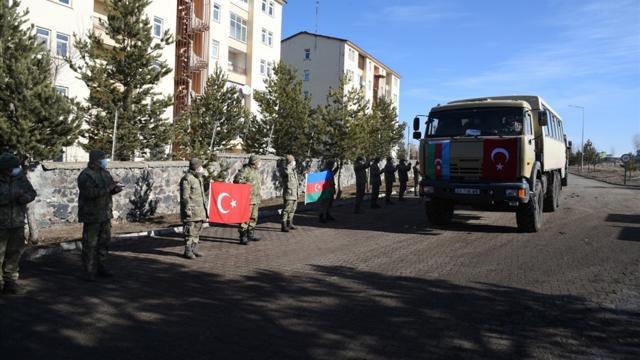 Kış-2021 Tatbikatının ardından Azerbaycan askerleri uğurlandı