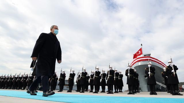 Milli Savunma Bakanı Akar, 2. Korvet Filotillası Komodorluğu Sancak Tevcih Töreninde konuştu