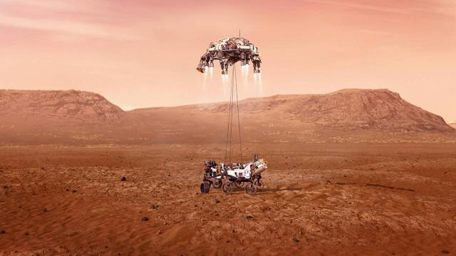 NASAnın canlı yayını başladı... Perseverance Marsa inecek...