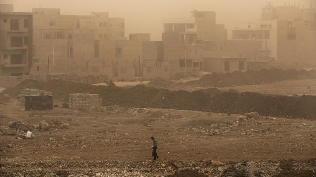 Senegal toz bulutlarıyla kaplandı