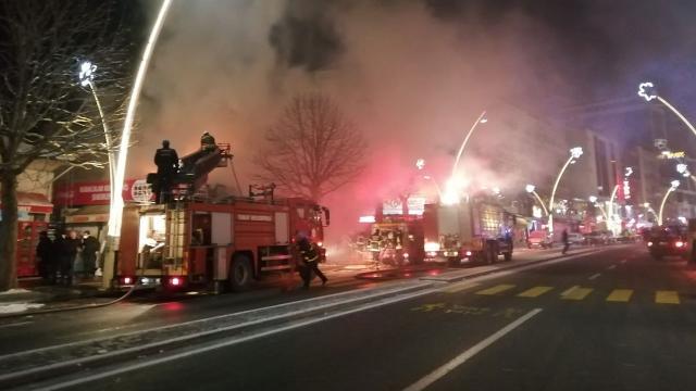 Tokatta yangın: 7 iş yeri zarar gördü
