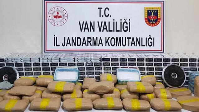 Vanda 69 kilogram uyuşturucu ele geçirildi