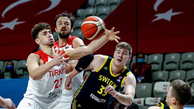 A Milli Erkek Basketbol Takımı İsveçi yendi