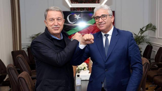Bakan Akardan Libya İçişleri Bakanı Başağaya geçmiş olsun telefonu