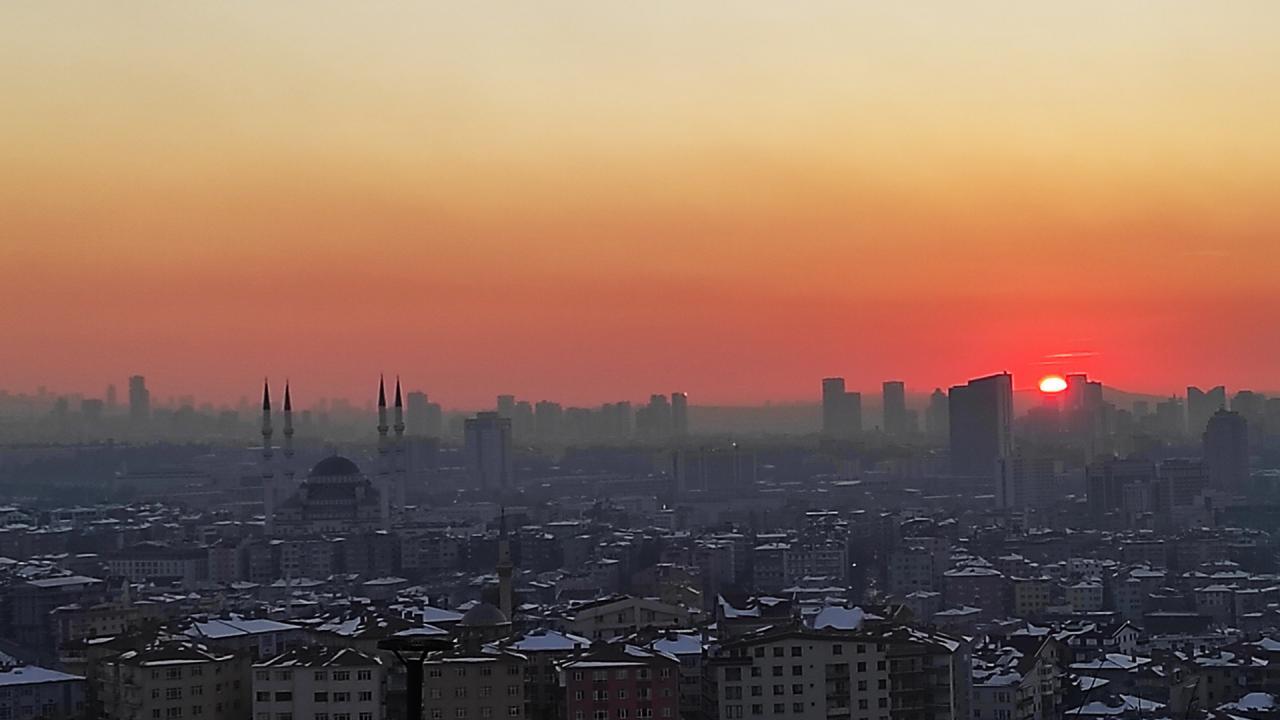 Ankara'da gün batımı