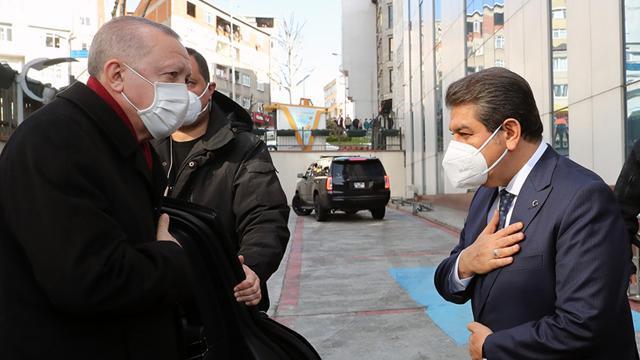 Cumhurbaşkanı Erdoğandan Esenler Belediyesine ziyaret