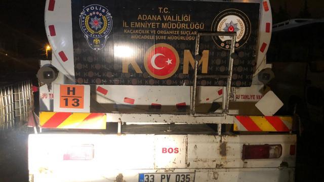 Adanada 21 bin litre kaçak akaryakıt ele geçirildi