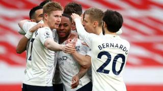 Sterling'in attı Manchester City kazandı