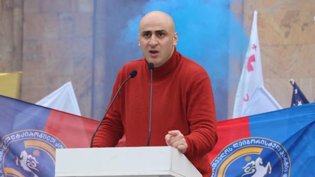 Gürcistanda ana muhalefet lideri Nika Melia gözaltına alındı