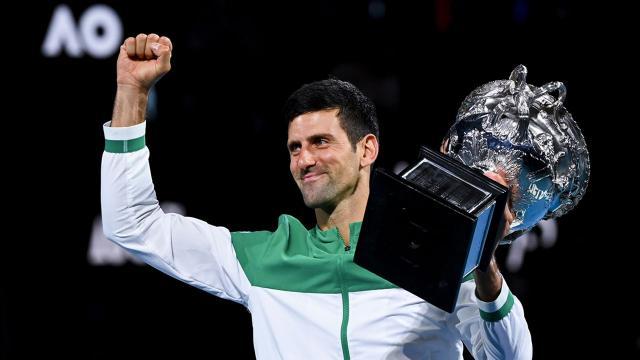 Avustralya Açıkın şampiyonu Novak Djokovic