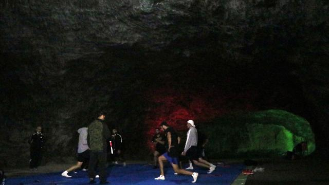 Tuz mağarasındaki antrenman boksörlerin performansını arttırdı