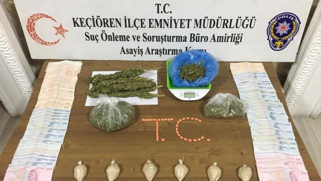 Ankarada uyuşturucu ticareti yapan 2 şüpheli yakalandı