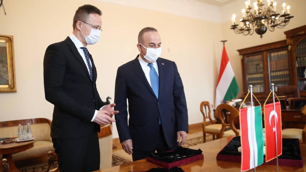 Macaristan'da ele geçirilen tarihi eserler Bakan Çavuşoğlu'na teslim edildi