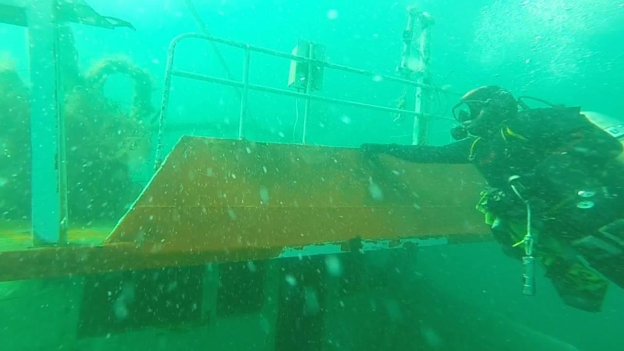 Bartın'da batan gemiyi dalgıçlar görüntüledi