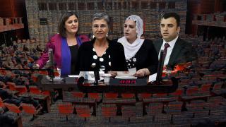 """HDP'li vekillerden cezaevindeki teröristlere """"pul"""" desteği"""