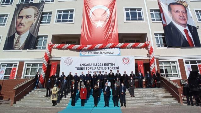 Kahramankazanda yapılan 3 okul törenle açıldı