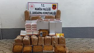 Manisa'da 100 kilo kaçak tütün ele geçirildi