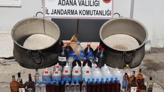 Adana'da 325 litre sahte içki ele geçirildi