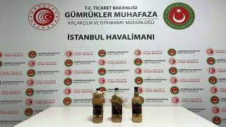 İstanbul Havalimanı'nda sıvı kokain ele geçirildi